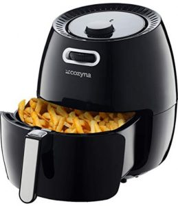 Cozyna Air Fryer XL 5.8QT with 50 Recipe Cookbook and Basket Divider Review
